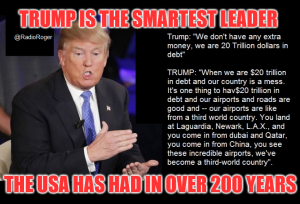 Trump smartest in 200 years